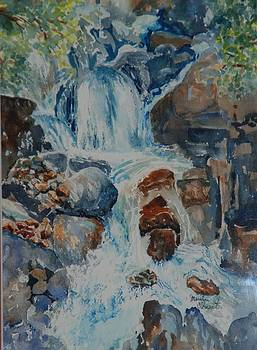 Yosemite Falls by Marilyn  Clement