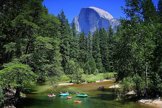 Anne Barkley - Yosemite Merced River Float with Half Dome