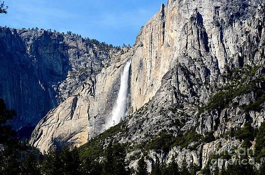 Yosemite Ribbon Falls Layers  by Greg Cross