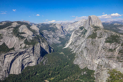 Yosemite Valley from above by Jill Bell