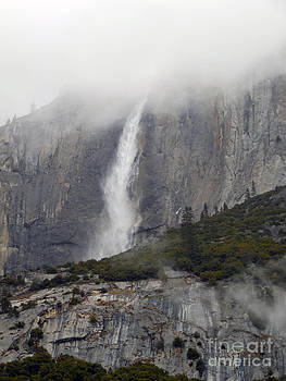 Yosemite Waterfall in the Clouds by Scott Shaw
