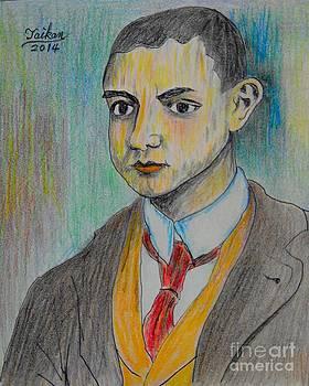 Young Artist By Taikan by Taikan Nishimoto