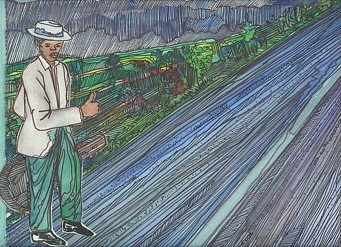 Young B.B. King hitchin to Pencicola by Kalikata MBula
