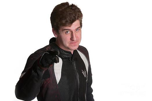 Gunter Nezhoda - Young biker pointing