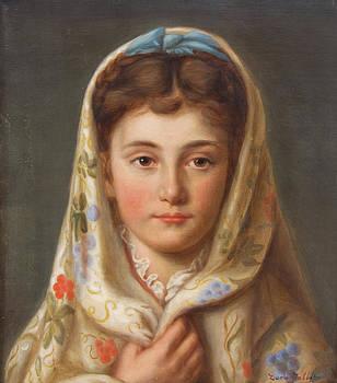 Young Girl By Zara Talbot Circa 1880 by Austin Brown