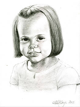 Young girl smiling by Gill Kaye