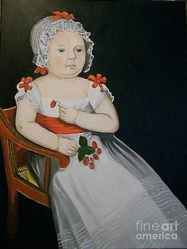 Young Girl With Strawberries by Robert Arsenault