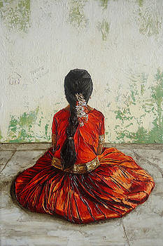 Young Indian girl  by E Loganathan