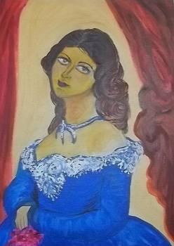 Young Lady in Blue by Iris Devadason