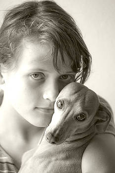 Young Lady With Dog by Martin Joyful