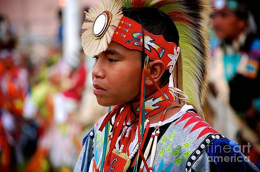 Young Lakota Dancer by Jim Cortez