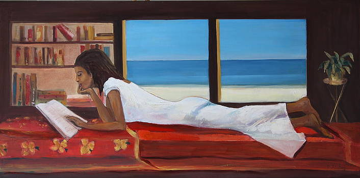 Young Mauritian studying by Brigitte Roshay