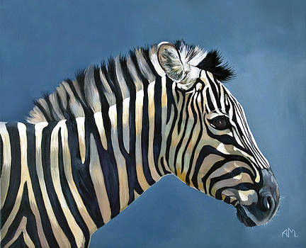 Young Zebra by Antonio Marchese