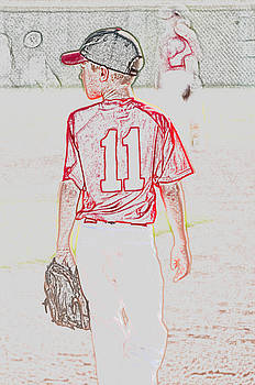 Youth baseball player by Tammy Abrego