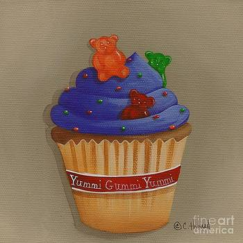 Yummi Gummi Bear Cupcake by Catherine Holman
