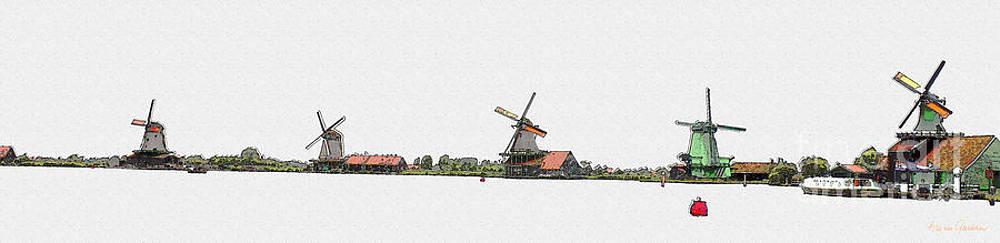Zaanse Schans by Arie Van Garderen