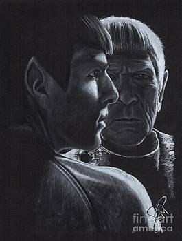 Zachary Quinto and Leonard Nimoy by Rosalinda Markle
