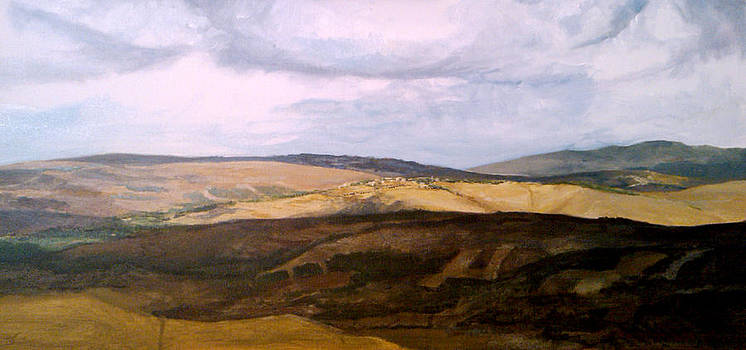 Zaher El-Bizri - Landscape - South Lebanon - Art in Lebanon by Zaher Bizri