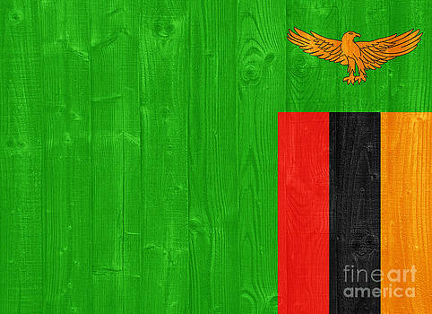 Zambia flag by Luis Alvarenga
