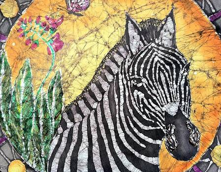 Zebra At Sunset by Jill Tsikerdanos