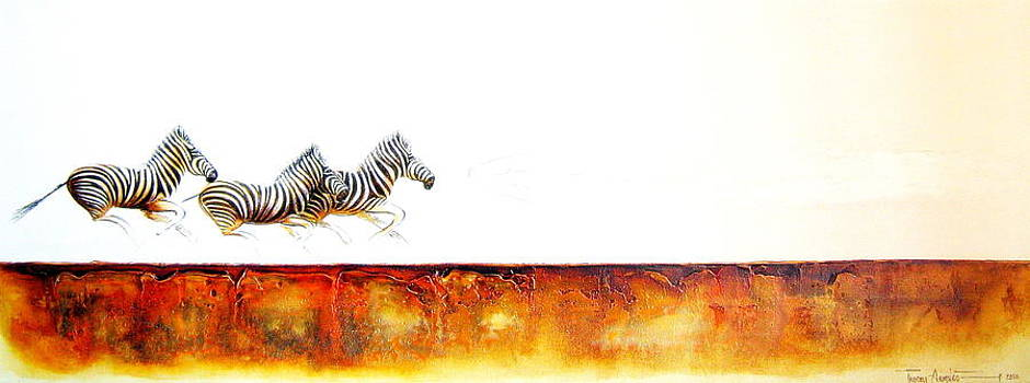 Zebra Crossing - Original Artwork by Tracey Armstrong
