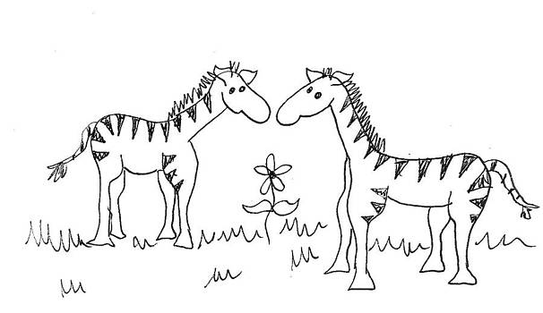 Cherie Sexsmith - zebra friends
