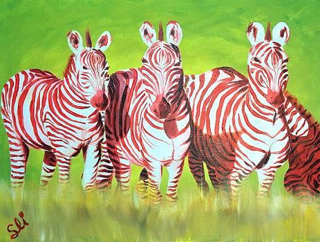 Zebra Love of AfreeKa by Sean Ivy aka Afro Art Ivy
