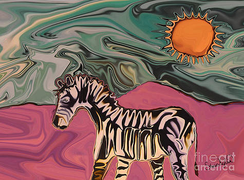 Zebra on Mars by Sherin  Hylan