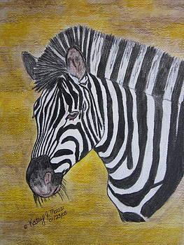 Zebra Portrait by Kathy Marrs Chandler