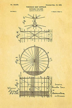 Ian Monk - Zeppelin Navigable Balloon Patent Art 2 1899