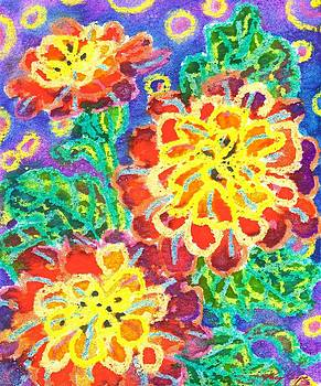 Zinnias by Kacy Cope