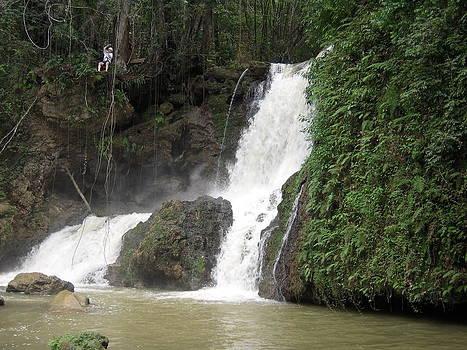 Anastasia Konn - Zip lining into the waterfall