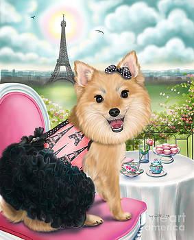 Zoey Bear in Paris by Catia Lee