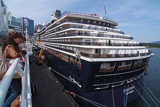 Zuiderdam Rotterdam Cruise Ship by Devinder Sangha