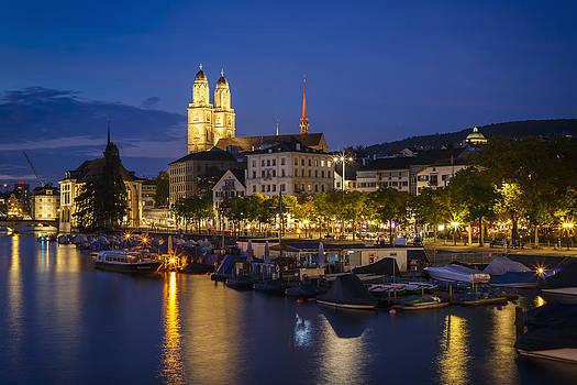 Zurich at Night by Antonio Violi