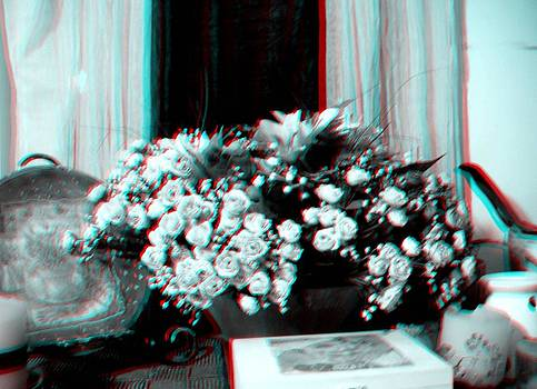 3D Composition of flowers with 3D by Morgana Blackcat