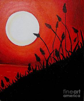 Acrylic Painting-Acrylic sunset by Priyanka Rastogi