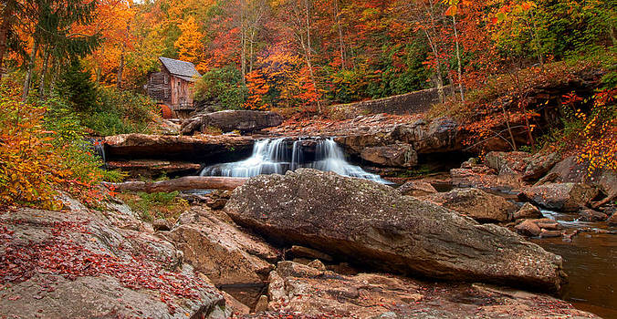 Randall Branham -  autumn leaves at the Mill