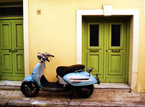Baby Blue Retro Scooter by Anthony Novembre
