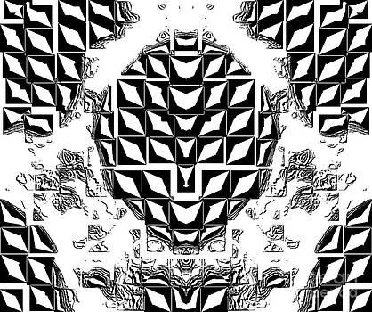 Drinka Mercep -  Black and White Abstract No.123