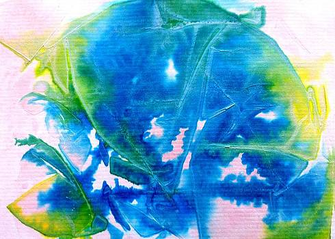 Blue Blubber Jellyfish by Tonya Mower Zitman