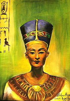 Egyptian queen Nefertiti. by Khatuna Buzzell