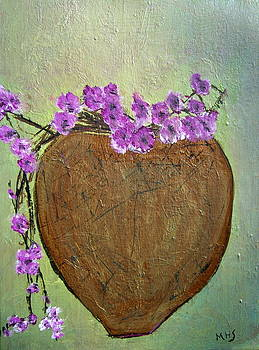 Flower Wrapped Pot by Melynnda Smith