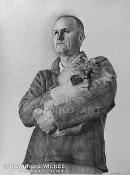 Husband and Pet of Artist by Kumiko McKee