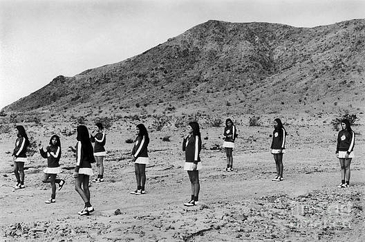 Majorettes Calico California USA 1971  by Homer Sykes