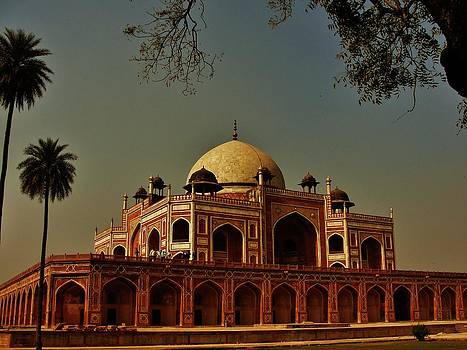 Mausoleum of Humayun Humayun tomb  by Chattrapal Singh