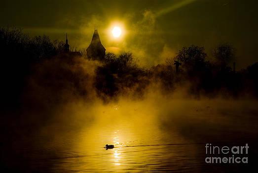Misty Lake by Bela Torok
