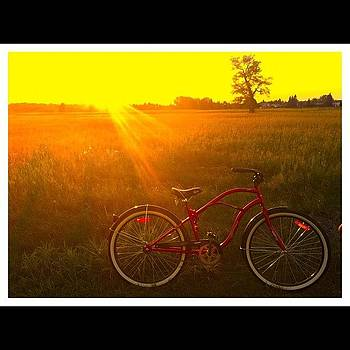 🚲💚 My Bike #bike #sunset #my #bff by Ange Exile DuParadis