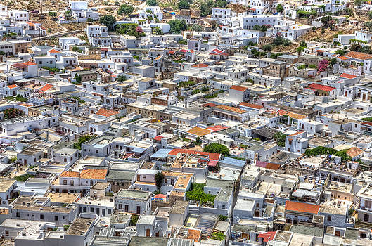 overlooking Lindos by Mike Gorton