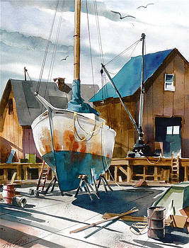 Rusted Hull by Art Scholz